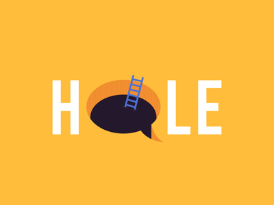 HOLE TEXT DESIGN hand drawn dailyui type typogaphy text hand lettering ladder yellow hole goals hope inspirational dribbble design adobe photoshop 2021