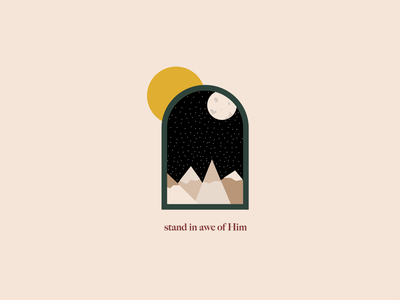Stand in Awe of Him vector illustration logo jesus bible simple graphic illustrator christian designer christian bible verse