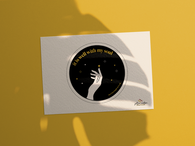It is Well With My Soul mockup soul it is well yellow branding logo illustration vector graphic jesus christian designer christian bible verse illustrator