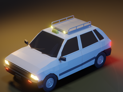 Low Poly Taxi lowpolycar illustration isometric art 3d blender lowpoly3d car lowpoly