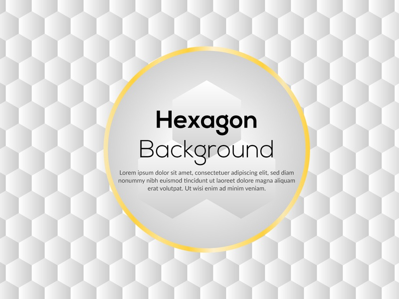 Abstract paper hexagon white background