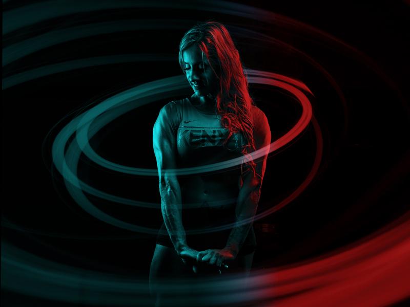 Photoshop Dual Light Poster photoshop poster lighting bodybuilder woman