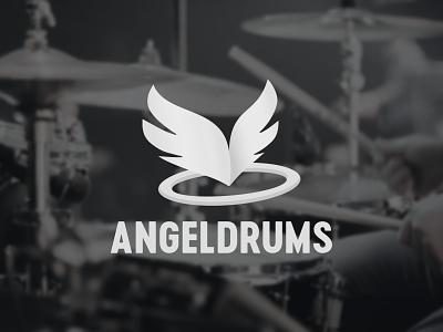 Angeldrums Logo icon branding typography logo design
