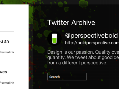 Twitter archive preview
