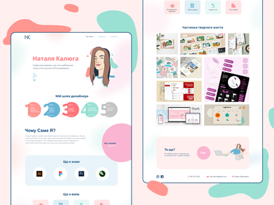 Personal  Landing Page minimal landing page web illustration figma design