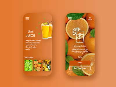 The Juice | Mobile App Design