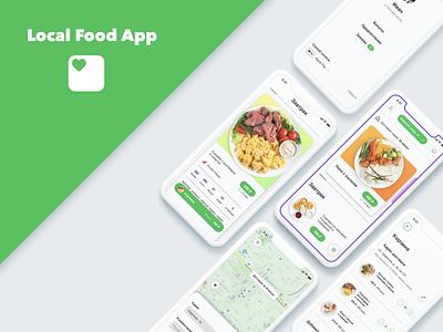 Local Food | Mobile App delivery food app app ui design