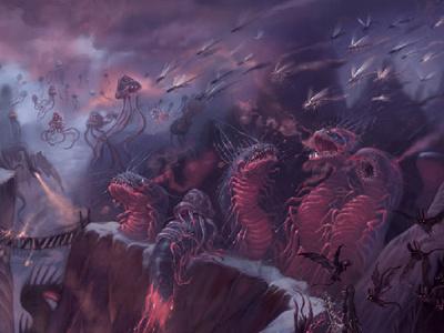 Hell illustration digital art