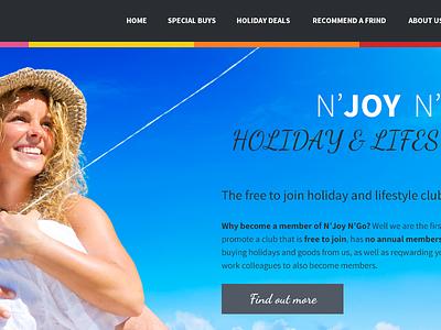 Website Header homepage concept web design header