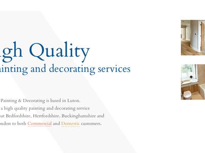 Lonsdale Painters and Decorators Limited New Website Concepts whitespace clean serif concept web design