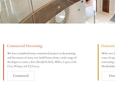 Lonsdale Painters and Decorators Limited New Website Concepts whitespace web design serif concept clean