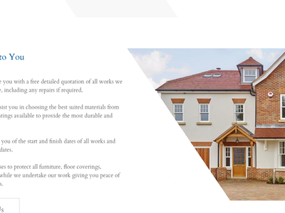 Lonsdale Painters and Decorators Limited New Website Concepts serif angled concept website web design