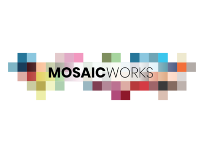 Mosaic Works Logo Concept 2 concept mosaic logo design logo