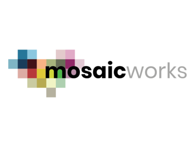Mosaic Works Logo Concept 3 mosaic concept logo design logo