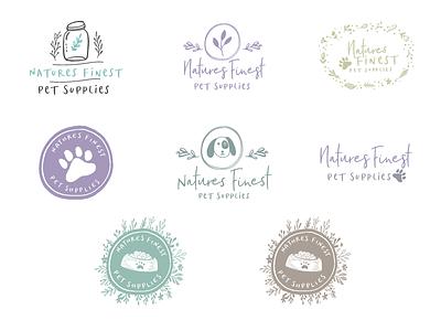 Logo Concepts Sheet for Natures Finest Pet Supplies pets nature concepts logo