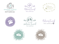 Logo Concepts Sheet for Natures Finest Pet Supplies