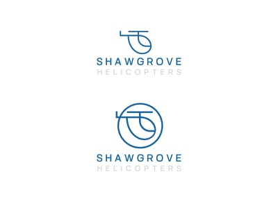 Shawgrove Logo Concepts amasci logo design branding company aviation helicopter logo