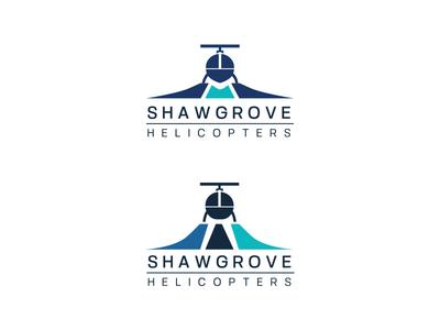Shawgrove Logo Concepts amasci logo design branding company aviation helicopter logo