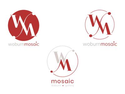 Woburn Mosaic Logo Concepts company branding company logo branding amasci logo design logo concept