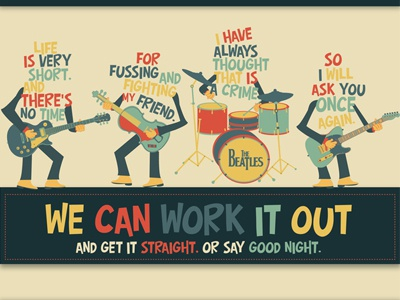We can work it out thebeatles beatles song type illustration music paul mccartney ringo lennon