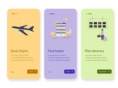 Travel app travel app travel onboarding onboarding screens app design app product design ui ux design