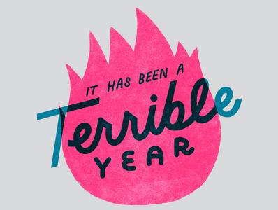 Terrible! lettering illustration
