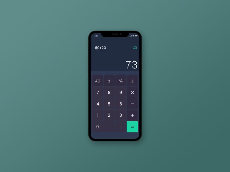 daily ui challenge 04 calculator dailyui design calculator app ui ui challenge
