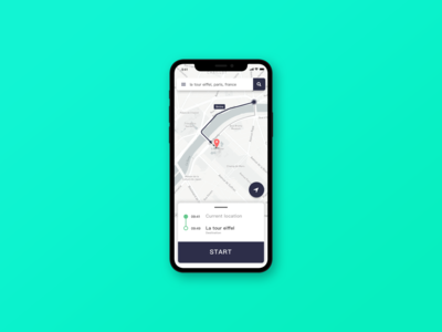 daily ui challenge 20 Location Tracker app design ui ui challenge dailyui location tracker
