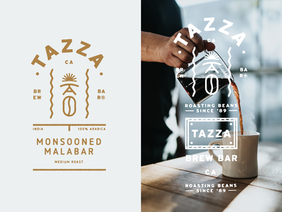 Tazza - Brew Bar typography logomark brewery logo illustration coffeeshop brewbar coffee coffeebar green graphicdesign gold distressed designinspiration design brandmark brandinginspiration branding allyoursisland