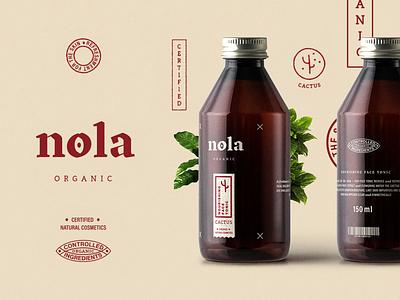 nola organic – Branding cactus vegan natural cosmetic organic illustration distressed brandmark typography graphicdesign designinspiration design brandinginspiration branding allyoursisland