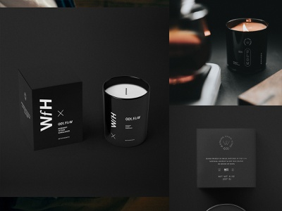 Packaging WFH Candles. typedesign logoinspiration graphicdesign logodesign logo brand design mockups brandmark branding packaginginspiration packagingdesign packaging