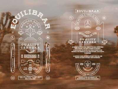 EQUILIBRAR artdirection labeldesign inspiration beer cerveza mexico mexican tradition vintage packaging distressed illustration brandinginspiration typography designinspiration brandmark design allyoursisland graphicdesign branding