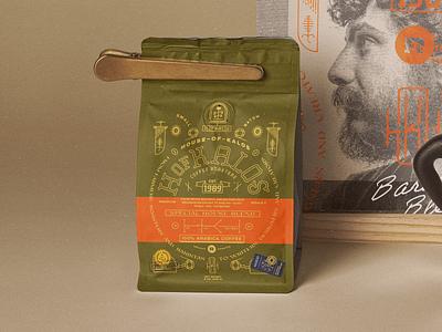 House of Kalos designinspiration brandmark allyoursisland design graphicdesign coffee inspiration complex badgedesign vintage badge typogaphy logo labeldesign packaging branding