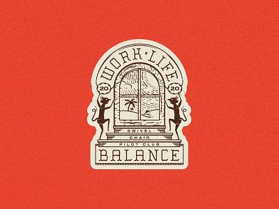 Work-Life-Balance vector designinspiration allyoursisland vintage badge kernclub illustration art badge badgedesign graphicdesign illustration
