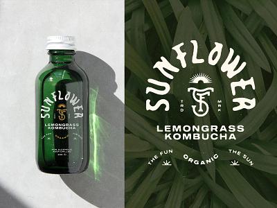 SUNFLOWER – Kombucha labeldesign packaging typography illustration brandmark allyoursisland designinspiration design graphicdesign branding