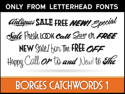 LHF Borges Catchwords 1 display commercial lhf word art charles borges catch words