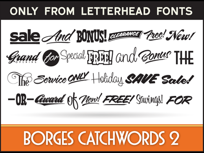 LHF Borges Catchwords 2 display commercial lhf word art charles borges catch words