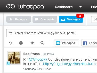 Dashboard notification whoopaa
