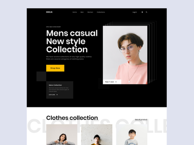 Website for Clothing store- Exploration collection website brand exploration landing page fashion apparel outfit clothing ecommerce shop web store design minimal whitespace ui uiux clean web