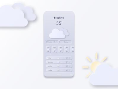 Neomorphic Weather App - Daily UI 37