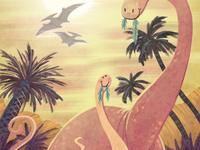 Dinosaur mum & kid