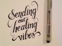 Sending out healing vibes