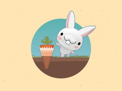 Bunny + Carrot cupcake