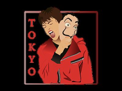 Tokyo - Money Heist money heist vector tokyo characterdesign illustration