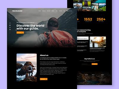 Travelguide. webdesign web page design ux ui landing page landingpage travel traveling