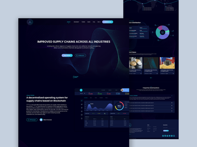 Cryptocurrency landing page ux ui