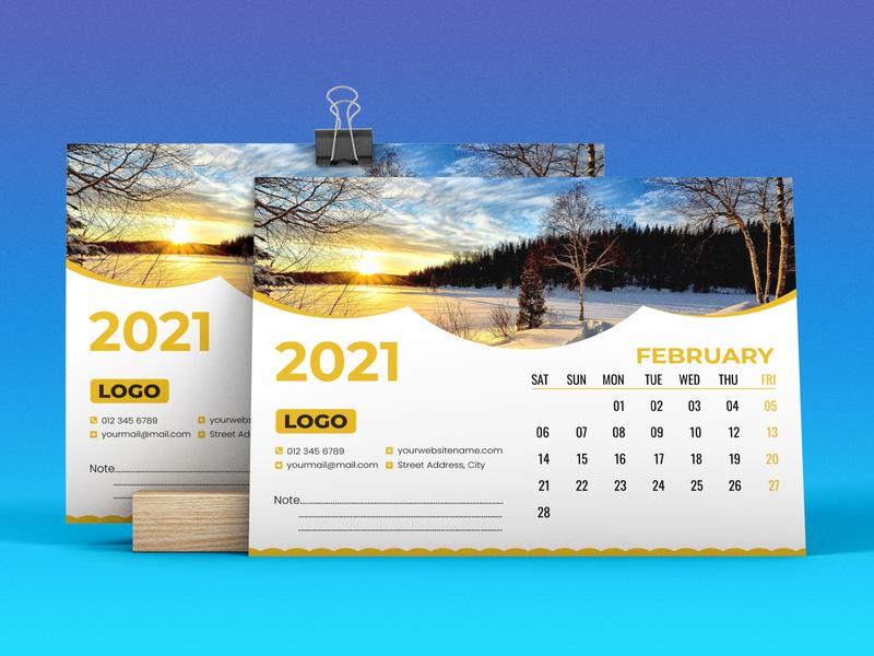 Desk Calendar 2021 followback logo ebook social media post calendar design banner calendar 2021 desk calendar