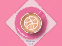 Dribbble Debut-Cup of Coffee for Jinglu
