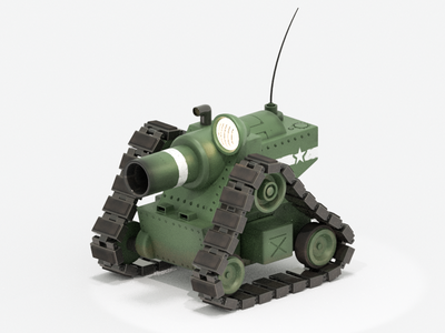 Cute Tank rendering blender tank