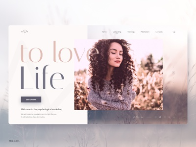 Center for Psychology - Love Life webdesigninspiration webdesigning webdesignanddevelopment webdesign visualdesign uxdesigning userinterfacedesign userinterface uitrends uiinspiration uidesigns uidesign ui digitaldesign psychology design